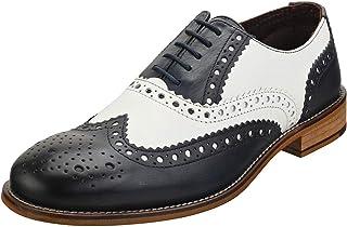 London Brogues Livraison Gratuite Chaussures Gatsby Brogue Tan//Noir