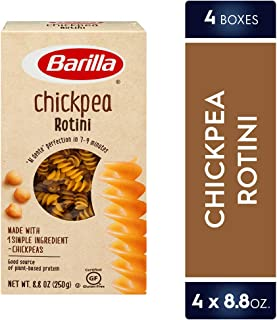 Barilla Chickpea Pasta, Gluten Free Pasta, Rotini, 8.8 Ounce (Pack of 4)