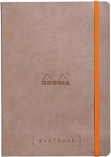ロディア ノート Rhodiarama ゴールブック A5 ドット方眼罫 240ページ イタリア製合皮ハードカバー トープ cf117744