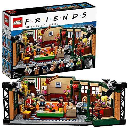 LEGO 21319 Ideas FRIENDS Central Perk Café Konstruktionsspielzeug mit 7 Minifiguren, Sammlermodell zum 25-jährigen Jubiläum der TV-Kultserie