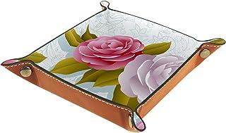 Plateau de rangement pour bijoux,Fleurs de camélia,plateau de valet,pour exposition,rangement,tiroirs,boucles d'oeilles,ba...