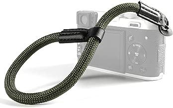 VKO Camera Wrist Strap, Hand Strap Compatible for Sony A6400 A6000 A6300 A6500 X100F X-T30 X-T20 X-T2 X-T3 X100S X100T E-M10III E-M10II M5 M6 Camera Climbing Rope Green