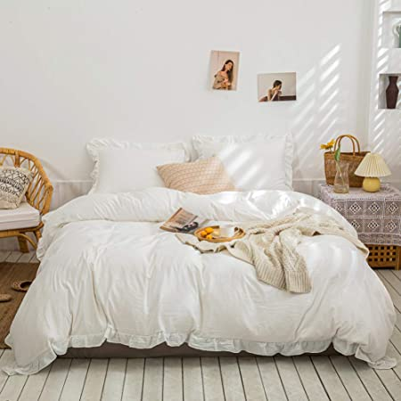 Botanische gr\u00fcn Bl\u00e4tter Duvet Cover Set auf wei\u00df,hochwertige handgemachte Bettbezug,Kissenbezug,Abdeckung,Geschenk f\u00fcr Paar,Premium Qualit\u00e4t
