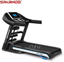 Buy Sparnod Fitness STH-3600 (4 HP Peak) Automatic Treadmill (DIY Installation) - Multifunction Foldable Motorized Running Indoor Treadmill –for Home Use Online at Low Prices in India - Amazon.in