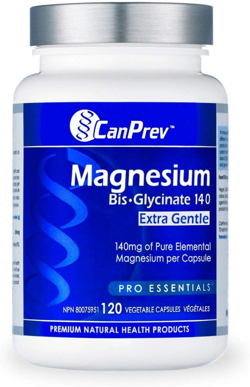 CanPrev Magnesium Bis-Glycinate Long-awaited 140 Capsules Gentle Extra Vegi 5% OFF