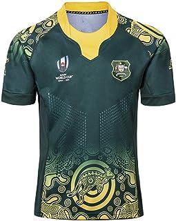 JUNBABY Palestine Maillot De Rugby T-Shirt De Rugby Classique Maillot De Football pour Hommes