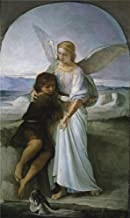 Oil Painting 'Rosales Gallina Eduardo Tobias And The Angel Ca. 1860', 20 x 34 inch / 51 x 85 cm , on High Definition HD canvas prints is for Gifts And Home Office, Nursery And Powder Room Decoration