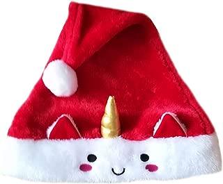 MEIZOKEN Design Winter Plush Unicorn Christmas Hat Unisex Wholesales Santa Hat Adult