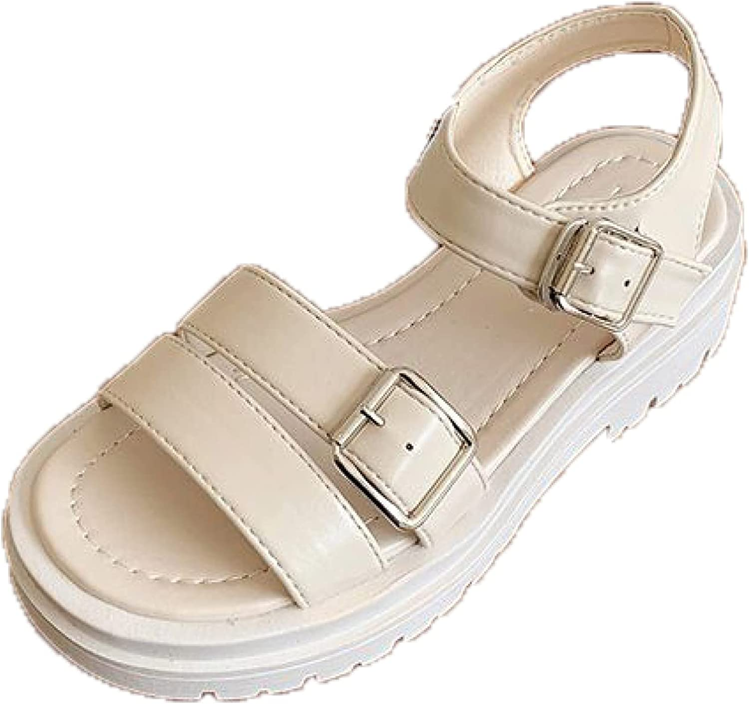 Platform Sandals for Women Dressy Summer Max 88% OFF Ank PU Clearance SALE Limited time Leather Toe Peep