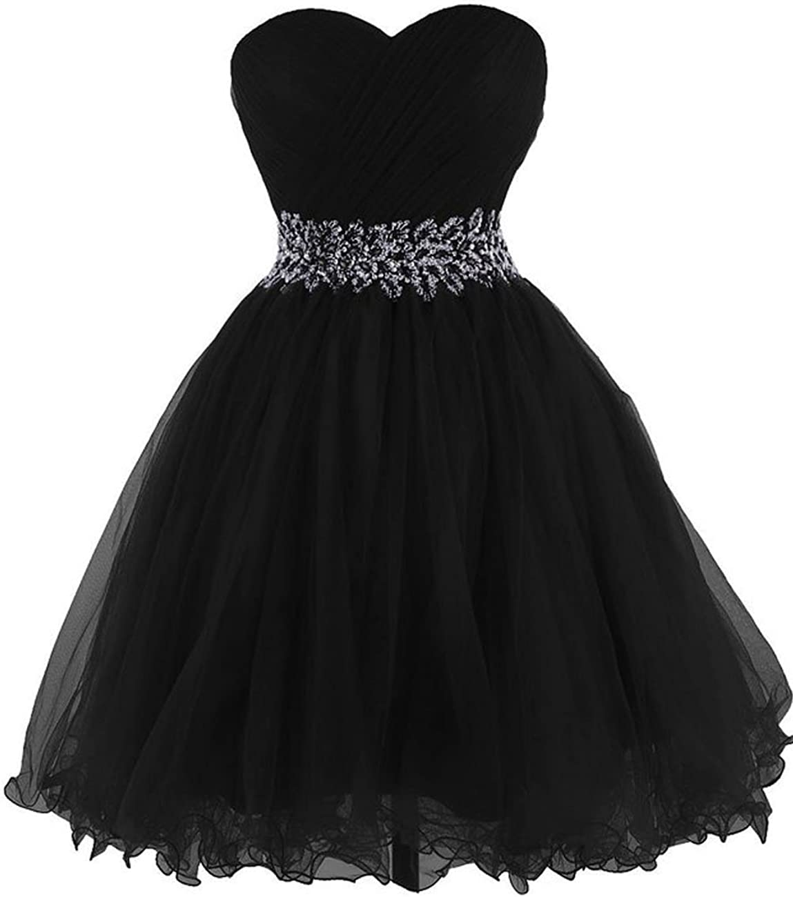 Short Tulle Homecoming Dresses Beaded Prom Cocktail Gowns Sweetheart Junior Party Dress