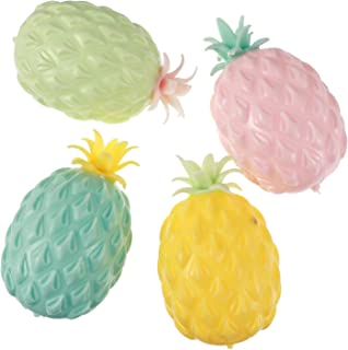 NUOBESTY 4PCS Slow Rising Fruit Toy Simulation Cartoon Pineapple Shape Funny Hand Game Fake Food Collection Props for Chil...
