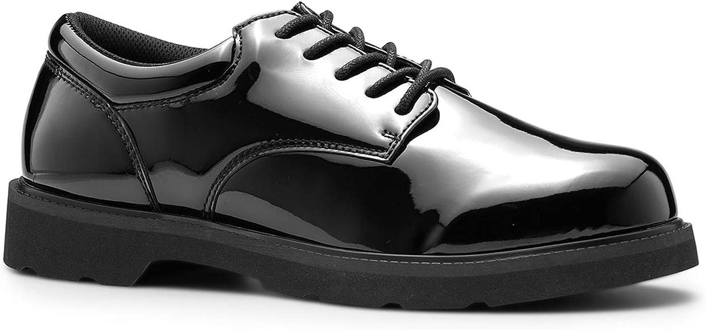 Maelstrom High Glossy Black Duty Oxford Shoes