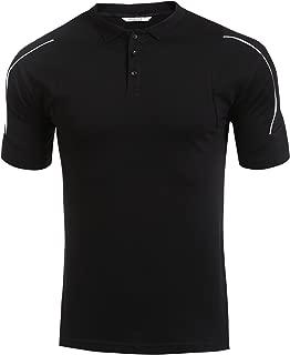 Men Collar Short Sleeve Patchwork Polo Shirt