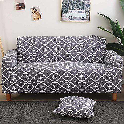 AGGF Fundas de sofá elásticas Funda de sofá de 1 Pieza Suave y cómoda Protector de Muebles de 1 2 3 4 plazas con una Funda de Almohada Protector de Muebles Lavable Suave