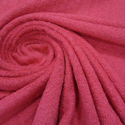 Stoff Meterware Frotté Frottee Fuchsia pink Reine Baumwolle weich