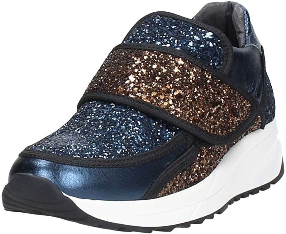Liu jo, sneakers,scarpe sportive per  donna,in  glitter blu,chiusura a strappo, taglia 36 eu BS607-36