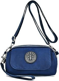 Women's Waterproof Nylon Wristlet Purse Wallet Small Cell Phone Pouch Crossbody Shoulder Bag