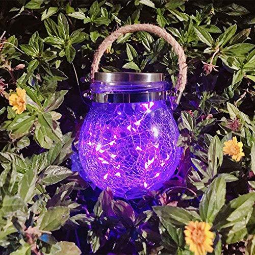 Solarlampen für Außen, IP65 Wasserdichte Gartenleuchte LED zum Aufhängen Lampe,Warmweiß Hängende Solarlicht LED Lichterkette für Garten, Balkon, Schlafzimmer, Hof, Pfad, Hochzeit Ornaments(Lila)