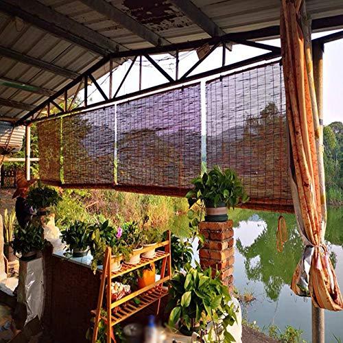 KDDEON Fondo Decoración Persianas Enrollables de Bambú,Rollo Bambú Ventanas Transpirable,Cortina de Caña de Partición de Sombreado,Cortinas de Paja Retro,para Patios,Restaurantes (160x230cm/63x91in)