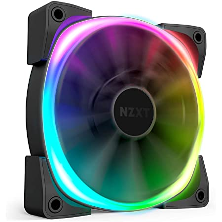 NZXT AER RGB 2 - 120mm - Personalizzazioni avanzate dell'illuminazione - Punte ad alette - Cuscinetto fluidodinamico - Ventola PWM LED RGB per Hue 2 - Singola
