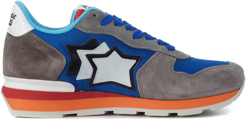 Atlantic Stars Antares skor i grå grå grå mocka och blå Fabric, Storlek UK   trendig