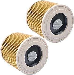 Filtros de Cartucho Lavables y Reutilizables para Aspiradora Kärcher WD2 / WD3 / MV2 / MV3 / WD 2.200 / WD 2.500 M / WD 3.200 / WD 3.300 M / WD 3.500 P / SE 4001 / SE 4002, 2 Pack de KEEPOW