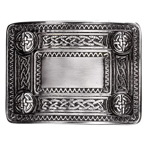 The Scotland Kilt Company Traditional - Celtic Knot Belt Buckle Antique Finish - For Kilts
