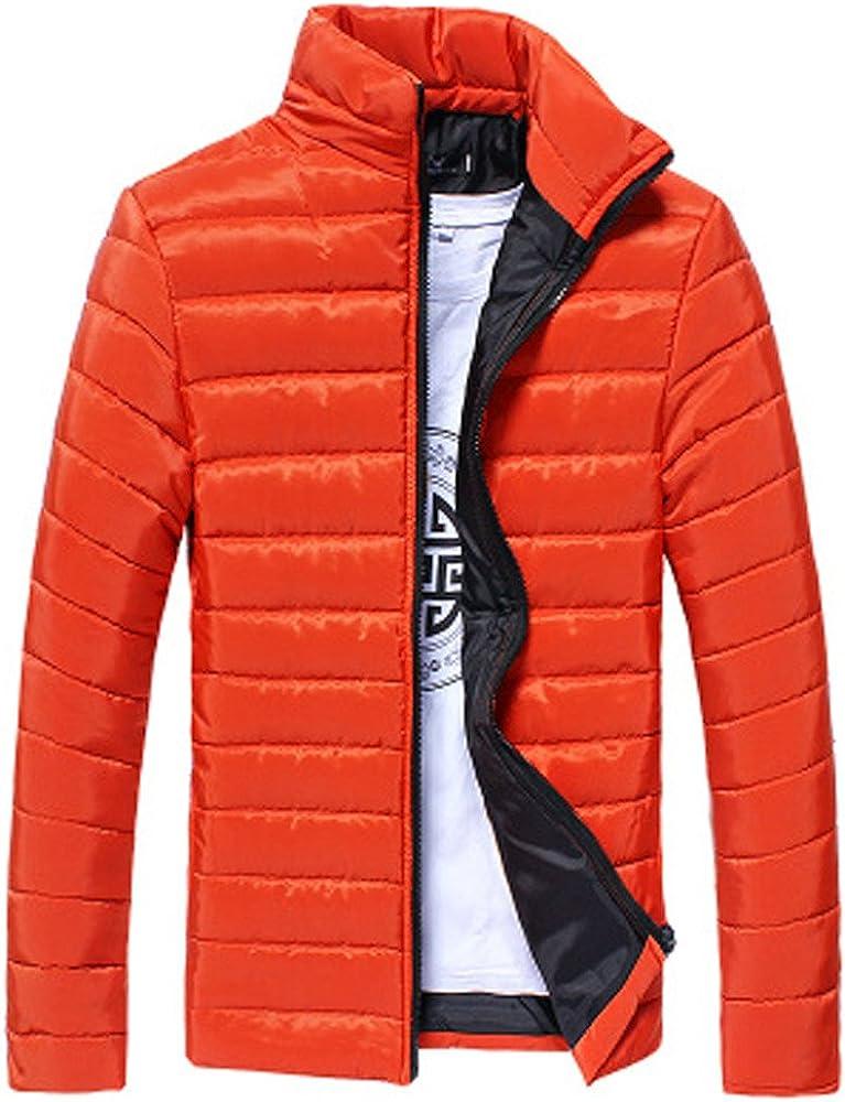 Gocheaper_Clothes Clearance! Boys Men Warm Stand Collar Slim Winter Zip Coat Outwear Jacket