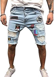 Vestito Scamiciato di Jeans Buco Strappato Gonna Corta Moda Vestito Salopette de Denim Senza Maniche Sciolto Casual Estiva Minigonna Abito di Jeans da Donna