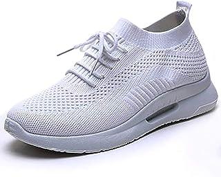 ZLYZS Zapatos para Correr para Mujeres Jóvenes, Zapatillas De Malla Transpirable De Punto Zapatillas De Deporte Cómodas Za...