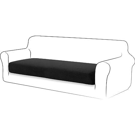 TIANSHU Housse de Coussin Extensible Coussin de canapé Housse de Protection pour Meubles Housse de siège de canapé pour canapé Housse de Coussin 3 Place pour Chaise (3 Place, Noir)