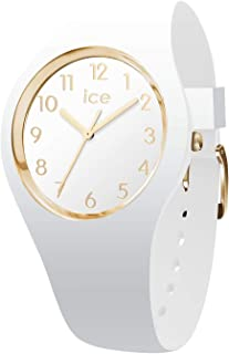 ICE Glam Medium White Silicone Band Gold Numerals Women's Watch 015339