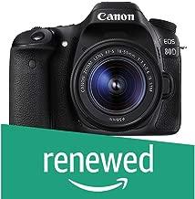 $777 Get Canon EOS 80D Digital SLR Kit with EF-S 18-55mm f/3.5-5.6 Image Stabilization STM Lens (Black) (Renewed)
