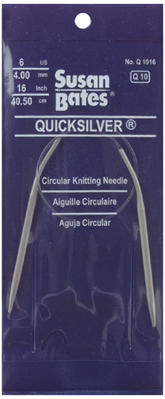 Susan Bates 29-Inch Quicksilver Circular Knitting Needle, 12.75mm