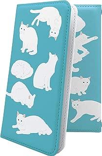 AQUOS R2 compact/SH-M09 ケース 手帳型 しろねこ 白猫 ねこ 猫 猫柄 にゃー アクオスアール コンパクト アクオスアール2 アクオスコンパクト 手帳型ケース 女の子 女子 女性 レディース aquosr2 shm09 aquosr2compact キャラクター キャラ キャラケース