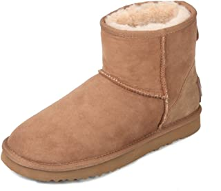 Women's Classic Short Sheepskin Snow Boot