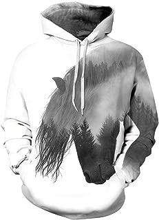 sanatty Unisex Hoodies 3D Print Galaxy Pullover Hooded Sweatshirt Hoodies with Big Pockets