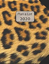 Plan a Lot 2020: Leopard Fur Cover, 4 Months at a glance, Months on 2 pages, monthly Project planner, Weekly with tracking habits, to-do listings and ... followed by 60+ grid pages; 8x11