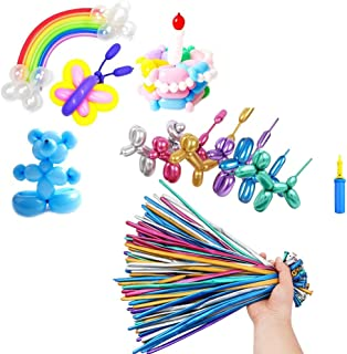 260mm Magic Long Chrome Latex Balloons for Twisting Animals Flowers with Pump for Party, Clowns, Wedding Decoration Suppli...