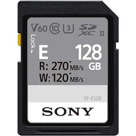 Sony Tarjeta de Memoria Digital SF-E de 128 GB UHS-II U3 V60 Sdhxc de la Serie SF-E de 270 MB/s de Escritura 120 MB/S SFE128