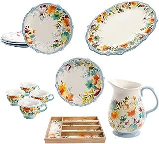 The Pioneer Woman Willow 15-Piece Dinnerware Set