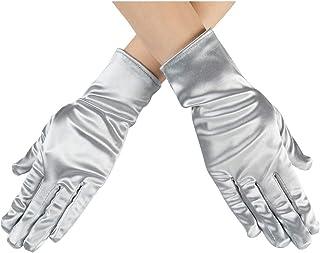 Xuhan Short Banquet Opera Satin Gloves for Women Wrist Length