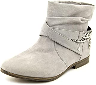 Womens Kaydan Grey Chain Slouchy Ankle Boots
