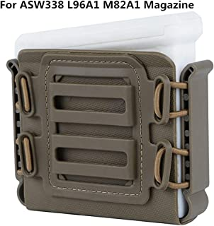 FIRECLUB Tactical Rifle Magazine Pouches Soft Shell Mag Carrier Holster with Molle and Belt Clip for ASW338 L96A1 M82A1 Magazine