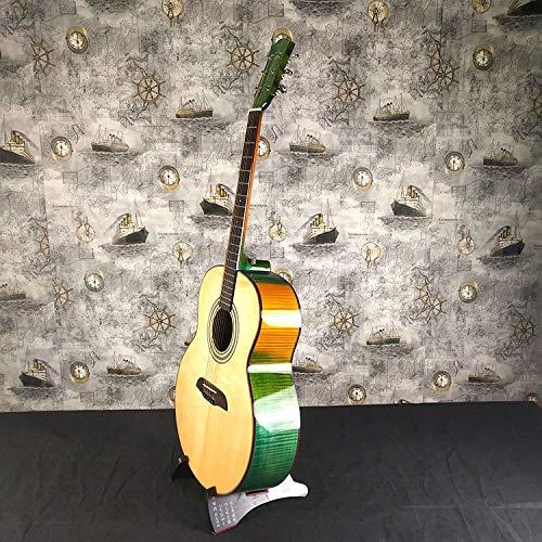 SUNXK Vogelaugenahorn Akustikgitarre Folk Akustikgitarre Fichte Dorsalfläche Akustikgitarre (Color : True Color, Size : 41 inch)