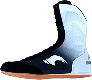 FJJLOVE Boxing Shoes, High Top Wrestling Boots for Men Women Kids, Breathable Boxer Boots Rubber Sole Lace Up Training Spo...