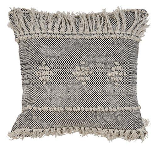 L.R. Resources PILLO07315BKNFFPL Zanthia Tribal Indoor Throw Pillow, 20