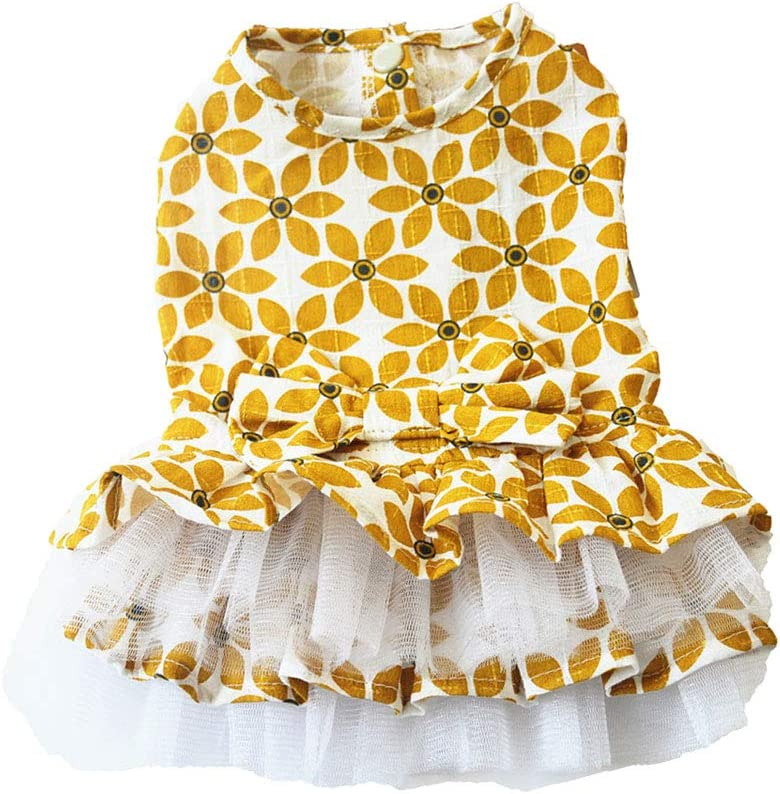 High quality new Clothes for Pet- Maple Leaf Lace Pet Fashion Dres Dog Skirt Tutu sold out