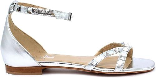 Sandalo CHAMP DE FLEURS 1031 Laminato plata