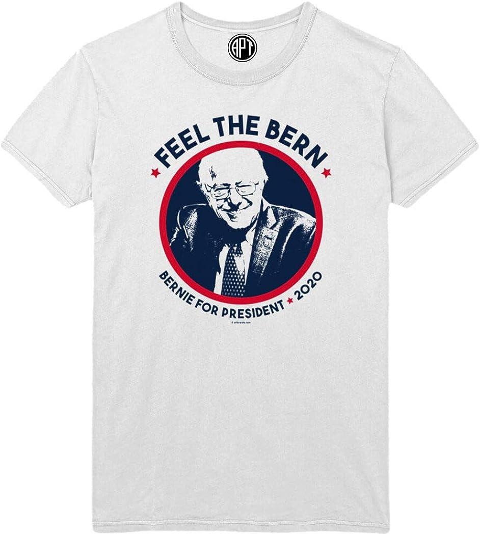 Feel The Bern Printed T-Shirt - White - 2XLT